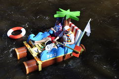 A funny boat race Royalty Free Stock Image