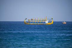 Funny boat on the red sea Royalty Free Stock Photos