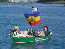 Funny boats Stock Photo