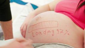 Funny Body Art stock video