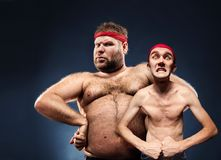 Funny body builders Royalty Free Stock Photos