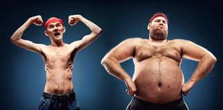 Funny body builders Royalty Free Stock Images