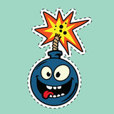 Funny bomb cartoon character Stock Images