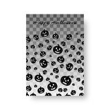 Funny booklet with pumpkins for Halloween. Layout of a brochure with silhouettes of pumpkins for a festive halloween design Royalty Free Stock Photos