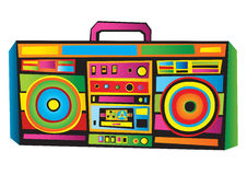 Funny Boom Box. Vector illustration of Funny Boom Box Stock Images