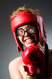Funny boxer against Stock Images