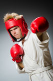 Funny boxer against Royalty Free Stock Photography