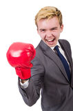 Funny boxer businessman Royalty Free Stock Photos