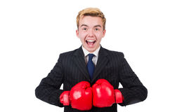 Funny boxer businessman Stock Image