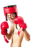 Funny boxer isolated Stock Images