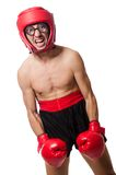 Funny boxer isolated on the white Royalty Free Stock Image