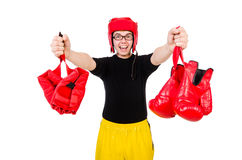 Funny boxer isolated Royalty Free Stock Image