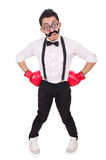 Funny boxer isolated Royalty Free Stock Photo