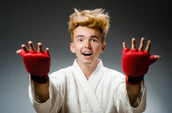 Funny boxer in sport Stock Photography