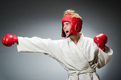 Funny boxer in sport Royalty Free Stock Images