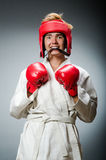 Funny boxer in sport Stock Images