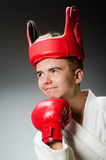 Funny boxer in sport Royalty Free Stock Photography
