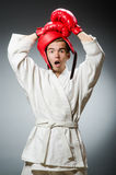 Funny boxer in sport Royalty Free Stock Image