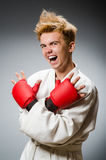 Funny boxer in sport Stock Photos