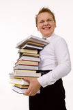 Funny boy with books Royalty Free Stock Image