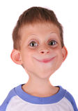 Funny boy. Caricature portrait of a young child Royalty Free Stock Photo