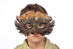 Funny boy with carnival mask Stock Photo