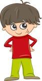 Funny boy cartoon illustration Royalty Free Stock Image