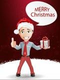 Funny boy and Christmas Stock Photos