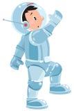 Funny boy cosmonaut or astronaut Stock Photo