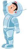 Funny boy cosmonaut or astronaut Royalty Free Stock Photography