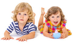 Funny boy and girl Royalty Free Stock Image