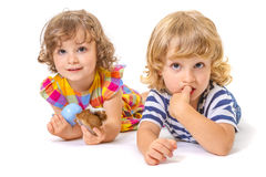 Funny boy and girl Stock Photo