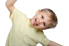 Funny Boy Making A Funny Face Stock Photos