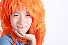 Funny boy with orange hair. Royalty Free Stock Photo