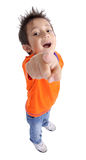 Funny boy pointing Royalty Free Stock Photography