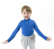 Funny Boy Shouting Royalty Free Stock Photography