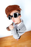 Funny Boy with vintage hat Stock Image