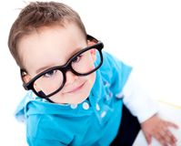 Funny boy wearing glasses Stock Photography