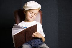 Funny boy writer Stock Images