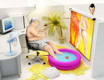 Funny break in office Stock Photography