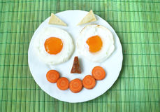 Funny breakfast Stock Images