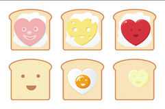 Funny breakfast icons Stock Photography
