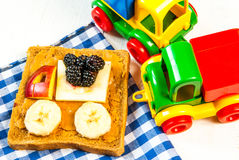 Funny breakfast for kid royalty free stock photography