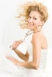 Funny bride Stock Image