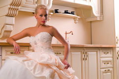 Funny bride Stock Photography