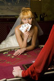 Funny Bride casino Stock Photos