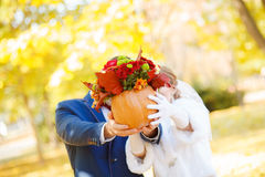 Funny bride and groom wedding Royalty Free Stock Images