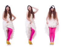 The funny bride Royalty Free Stock Photography