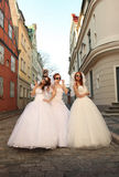 Funny brides Royalty Free Stock Photography