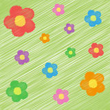 Funny bright background with flowers. Illustration of funny bright background with flowers Royalty Free Stock Image